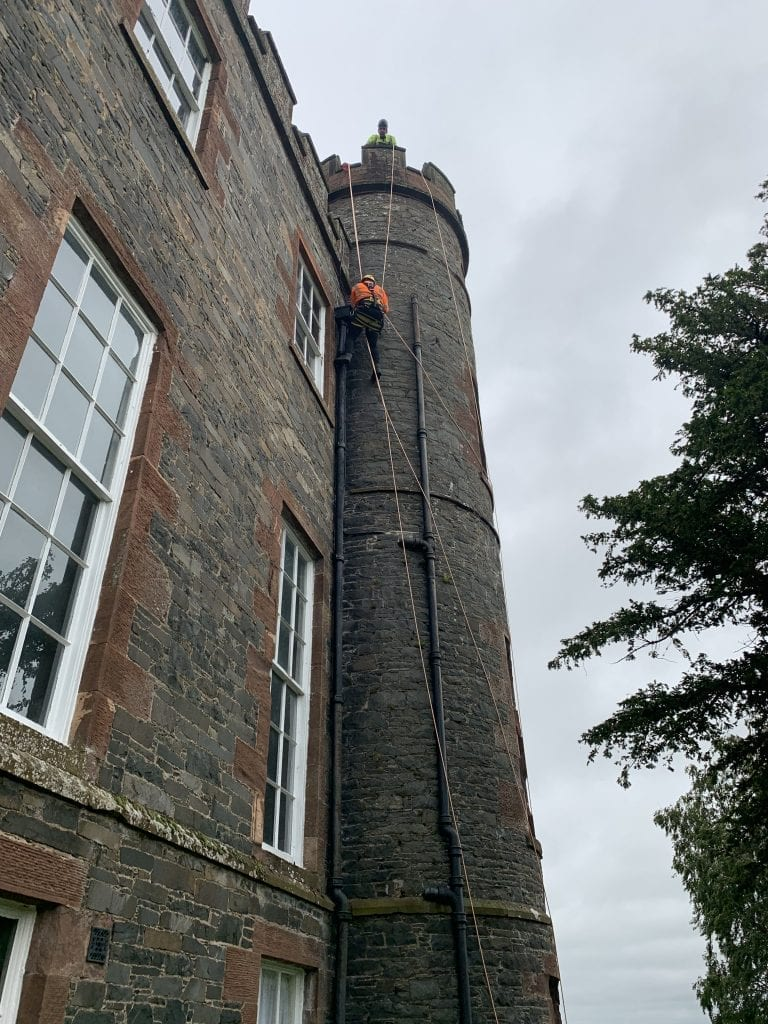Rope Access Stonemasons on stobo