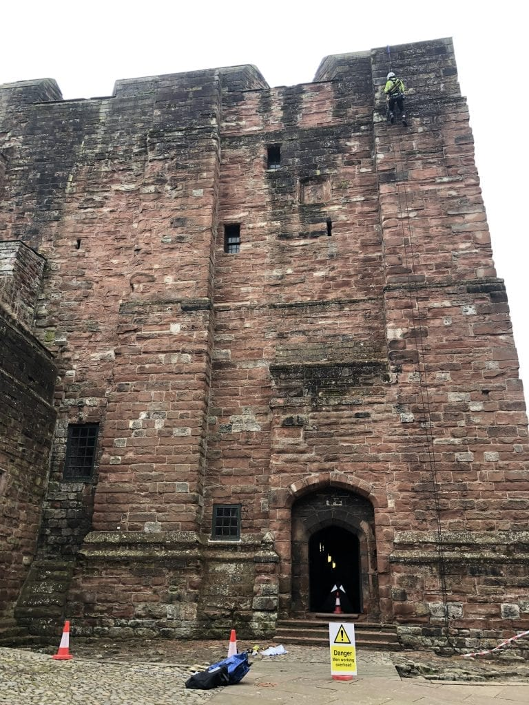 Edinburgh Rope Access Team working on Carlisle Castle